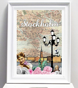 Stockholm City Art Print Or Canvas