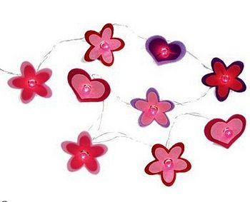 Children's Floral Hearts Fairy String Lights