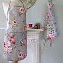 Vintage Roses Oilcloth Apron