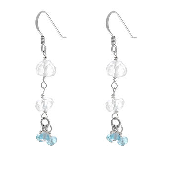 Aquamarine Apatite Sterling Silver Earrings