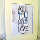 all you need is love (personalised)