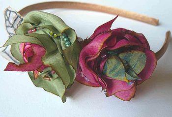 Silk Rose Hair Band