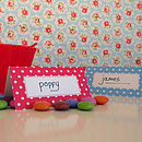 Spotty Place Cards