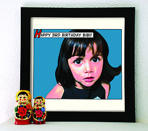 Personalised Comic Art Style Print - comic book gift accessories