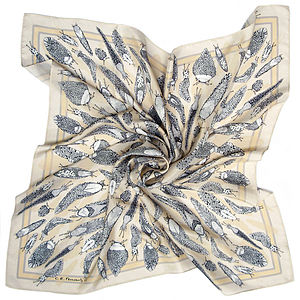 Escargatoire Square Silk Scarf