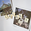 Vintage Letter Tile 'Fridge' Magnets