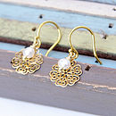 Freshwater Pearl And Gold Filigree Earrings
