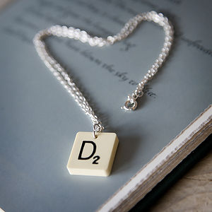 Vintage Letter Tile Personalised Necklace - necklaces