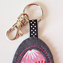 Felt And Fabric Pebble Key Ring