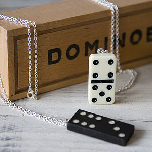 Dotty Tile Game Pendant Necklace - children's jewellery