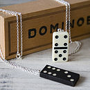 Dotty Tile Game Pendant Necklace