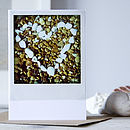 Retro Print Pebble Love Heart Card