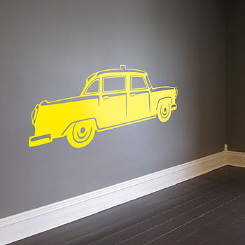 New York City Taxi Vinyl Wall Sticker