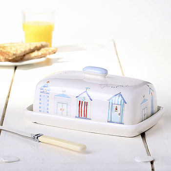 Dorset Coast Beach Hut Butter Dish
