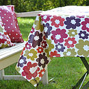 Oily Rag Retro Hot Flower Oilcloth Tablecloth