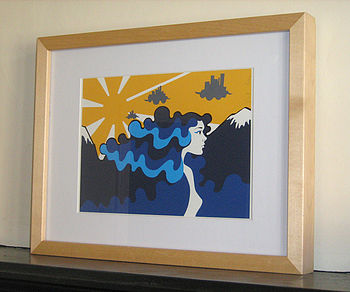 Flow Your Own Way Print Blue
