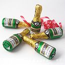 Five Chocolate Champagne Bottles