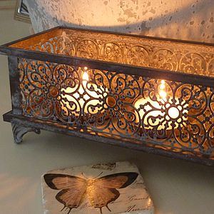 Morrocan Styled Candle Holder - bedroom