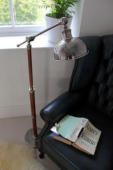 Solid Wood Nautical Style Floor Lamp