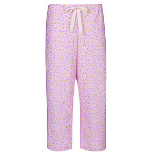 Rosebud Cropped Pyjama Trousers - loungewear