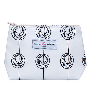 Rose Lily Black Small Make Up Bag - bags & purses