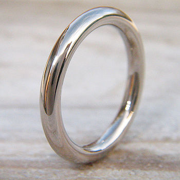 Men's Wedding Ring In 18ct White Gold
