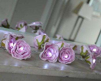 Pink Mauve Rose Fairy Lights