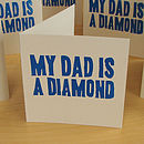 Diamond Dad Handprinted Linocut Card