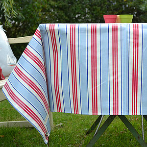 Deckchair Stripe Oilcloth Tablecloth