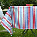 Oily Rag Stripe Oilcloth Tablecloth