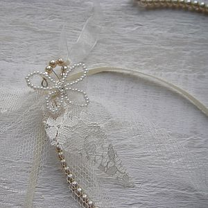Personalised Pearl Butterfly Bridal Horseshoe - women's jewellery