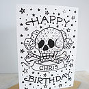 Personalised Birthday Card With Diamante