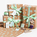 Recycled Mint Dotty Gift Wrap Set