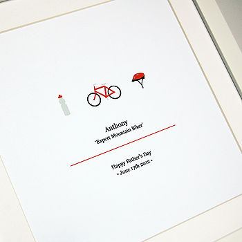 Personalised Mountain Bike Framed Print