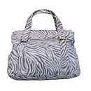 Madison Leather Satchel Bag:Zebra Print