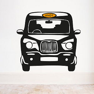 Personalised London Cab Front Wall Sticker - pictures, prints & paintings