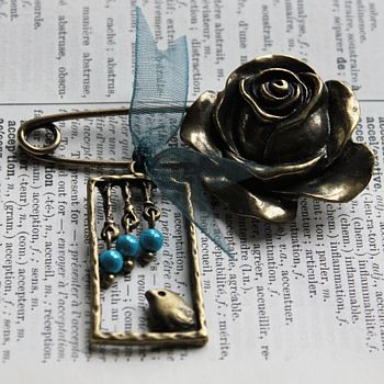 Brass Little Bird Brooch