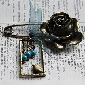 Brass Little Bird Brooch - women's jewellery