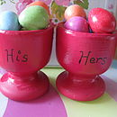 'His' And 'Hers' Egg Cup Set