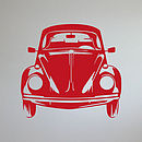 Classic Vw Beetle Front View Vinyl Wall Sticker