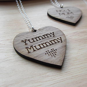 Wooden Heart Pendant - necklaces & pendants