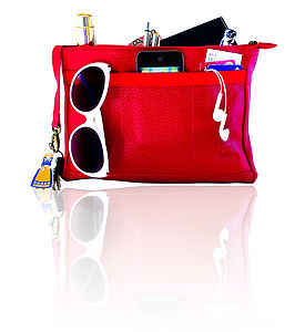 Leather Handbag Organiser - frequent traveller