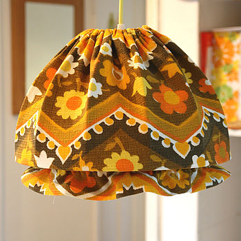Lucy Vintage Fabric Mop Cap Lampshade