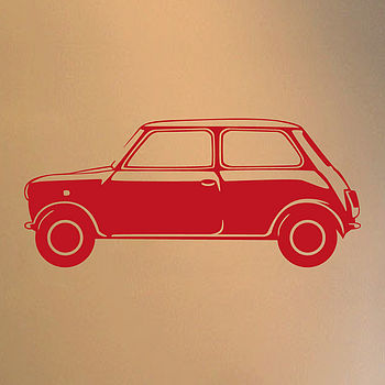 Classic Mini Vinyl Wall Sticker Side