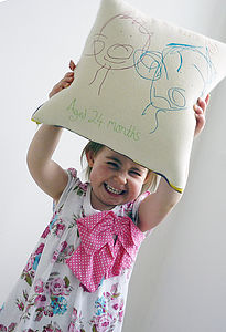 Your Child's Drawing Cushion - gifts from younger children
