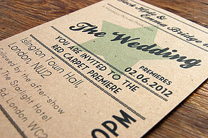 Cinema Wedding Stationery Range