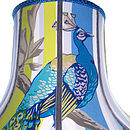 Peacock Patchwork Lampshade