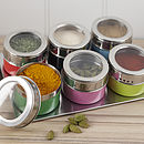Magnetic Multicoloured Spice Jars
