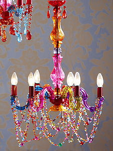 Bohemian Beaded Chandelier - pendant lights
