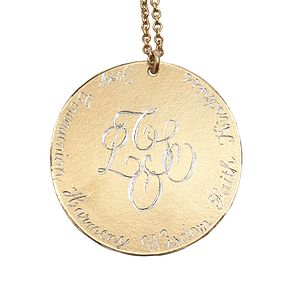 Personalised 18ct Gold Vermeil Pendant - necklaces & pendants